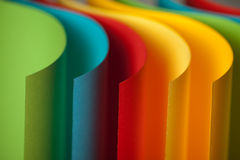 Detail of waved colored paper structure Stock Photo