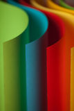 Detail of waved colored paper structure Royalty Free Stock Photography
