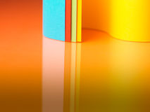 Detail of waved colored paper structure royalty free stock photos