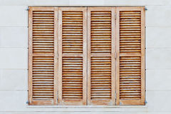 Brown shutters Stock Photos