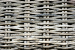 Detail of a weathered cane beach chair Royalty Free Stock Photography
