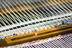 Detail of weaving loom Royalty Free Stock Photography