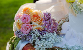 Detail of wedding bouquet. Stock Image
