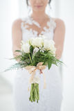 Detail of wedding bouquet in the hands of the bride, wedding detail Stock Photos