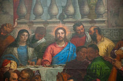 Detail of The Wedding at Cana by Paolo Veronese in the Musée du Louvre. Paris. Royalty Free Stock Photography