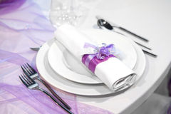Detail of a wedding dinner Stock Photography