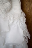 Detail of a wedding dress Stock Photography