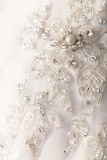 Detail of wedding dress Royalty Free Stock Photography