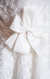 Detail of wedding dress Royalty Free Stock Images