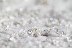 Detail of wedding dress Stock Photos