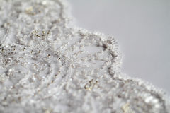 Detail of wedding dress Stock Photography
