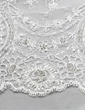 Detail of wedding dress Stock Images