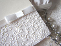 detail of wedding invitations Royalty Free Stock Photo