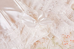 Detail of wedding lingerie Stock Photography