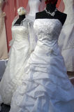 Detail of a weddings dress. On mannequin Stock Photo