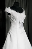 Detail of a weddings dress on a mannequin Royalty Free Stock Photos