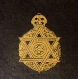 Detail Weinlese des jüdischen Bucheinbandes Stockfotos