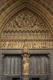 Detail of Westminster Abbey in London Stock Image