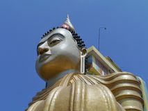 A detail of the Wewurukannala Vihara Buddha Royalty Free Stock Photography
