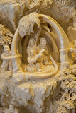 Detail of a whale bone carving Royalty Free Stock Photos