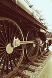 Detail wheel lokomotive. Detailed picture of a steam locomotive on the Rails royalty free stock images