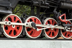 Detail of the wheels on a steam train Stock Photo