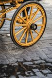 Detail of wheels of typical chariot Royalty Free Stock Images