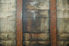 Detail of a whisky barrel Stock Images