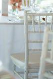 Detail of white chair Stock Photos