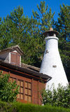 Detail of a White Chimney of a Cottage in the Pyrene Stock Photos