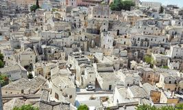 Detail of white houses of Matera - Basilicata stock photography