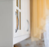Detail of white kitchen. Royalty Free Stock Photography