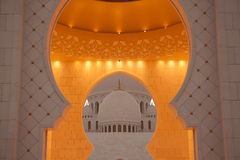 The detail of the white mosque Royalty Free Stock Image