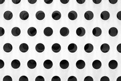 Detail white perforated metal facade Royalty Free Stock Photo