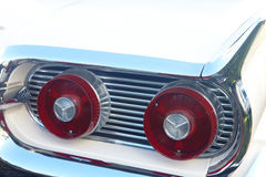 Detail of white retro car Stock Photo