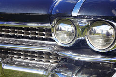 Detail of white retro car Royalty Free Stock Photography