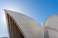 Detail of white roof structure of Sydney Opera House, Australia stock image