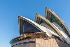 Detail of white roof structure of Sydney Opera House, Australia royalty free stock images