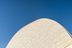 Detail of white roof structure of Sydney Opera House, Australia stock photography