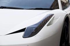 Detail of a white sportscar Royalty Free Stock Photo