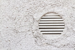 Detail of White Wall with Ventilation Grilles. Including copy space Royalty Free Stock Image