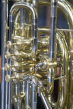 Detail of wind instrument Royalty Free Stock Photography