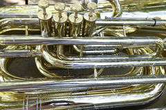Detail of wind instrument Royalty Free Stock Photo