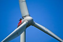 Detail of a wind turbine in Bavaria, Germany royalty free stock images