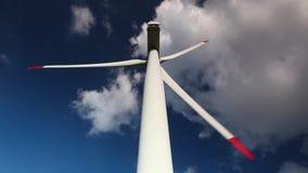 Detail of wind turbine stock video footage