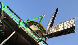 Detail of a windmill. Good examle of the classical Dutch windmill, The zaansche schans in the Netherlands, Holland. The windmill named Stock Image