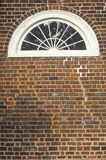 Detail of window in Buckingham Courthouse, designed by Thomas Jefferson, Charlottesville, Virginia Royalty Free Stock Images
