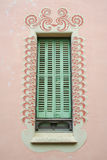 Detail of a Window  of Gaudi& x27;s house at Parc Guell Royalty Free Stock Photos