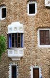 Detail of a Window  of Gaudi& x27;s house at Parc Guell Royalty Free Stock Image