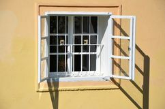 Detail of a window, medieval Prague Royalty Free Stock Photos
